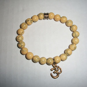 Om Yoga Natural Stone Bracelet